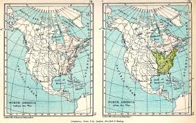 North America Maps by Two Maps Of North America In 1775 And In 1783