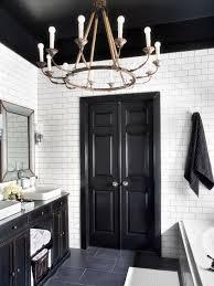 gray and black bathroom ideas bold black interior doors inspiration and tips hgtv s decorating
