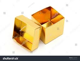 gold foil gift boxes closeup open gold foil gift box stock photo 714752779