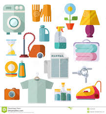 house keeping housekeeping theme flat icons on white background stock vector
