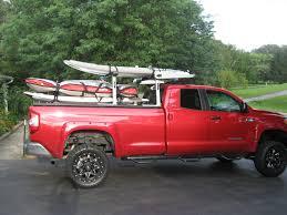 toyota tundra ladder rack retraxpro mx retractable tonneau cover tracrac sr truck bed