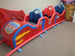the roller coaster that we made for colossal coaster world vbs