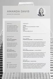 tips for your thin resume presentable amanda resume cv template word photoshop indesign