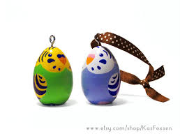 budgie ornaments figurines for sale by kazfoxsen on deviantart