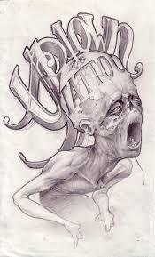 uptown zombie sketch original art