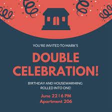 housewarming invitation templates canva