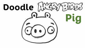 how to draw doodle faces easy doodle pig angry birds step by step draw