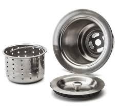 Kitchen Sink Drain Basket Fluxe 3 5 Inch Stainless Steel Waste Basket Kitchen Sink