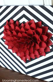 Valentine S Day Wall Decor Diy by Diy Paper Heart Wreath Blooming Homestead