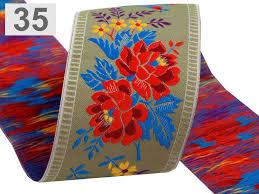 patterned ribbon polyester folk costume patterned ribbon width 55mm stoklasa
