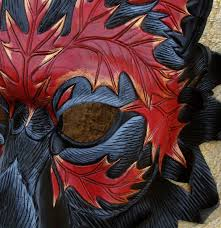 Wolf Mask Close Detail Of Autumn Leaf Wolf Mask By Merimask On Deviantart