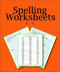 printable spelling worksheets for kids