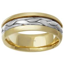 braided wedding band 14k two tone braided wedding band free shipping today