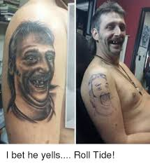 Roll Tide Meme - i bet he yells roll tide i bet meme on sizzle