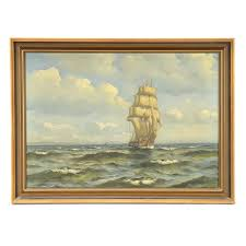 nautical painting sten bille vintage nautical oil painting on canvas ebth