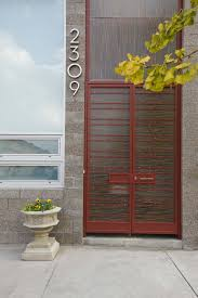 Contemporary Front Doors Exterior Design Address Numbers With Awning Windows And Modern