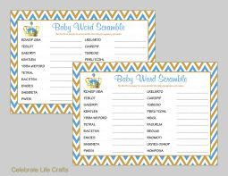 crown baby shower word scramble game printable games baby