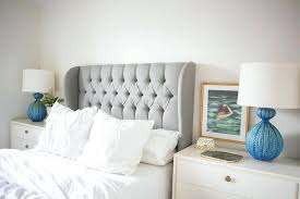 full size white tufted headboard gray velvet tufted headboard with