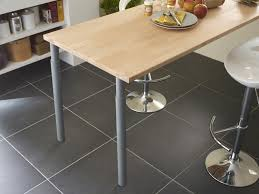 plan table de cuisine table de cuisine fabriquée avec un plan de travail leroy merlin