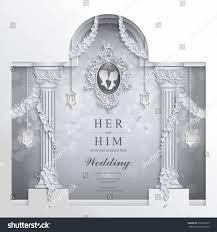 Craft Invitation Card Wedding Invitation Card Templates Paper Cut Stock Vector 562068355