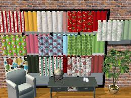 Simple Kitchen Curtains by Mod The Sims Simple Kitchen Curtain Recolors 10 Patterned 10