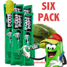 pickle pops dill pickel juice popsicles 6 ct