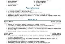 Restaurant Manager Job Resume by Download Restaurant General Manager Resume Haadyaooverbayresort Com