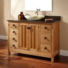 Hardwood Bathroom Vanities 48 Unfinished Narrow Depth Mission Hardwood Vanity For Undermount