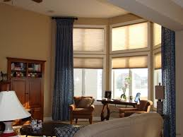 How To Extend Curtain Rod Length Bay Window Bedroom Amazing Contemporary Living Room With Large And