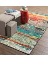 amazing deal on mohawk home strata eroded multicolor rug 5 u0027 x 8