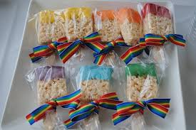 party favors ideas rainbow party birthday party ideas spoon rice
