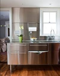 Steel Kitchen Cabinets Brick Wall Stainless Steel Kitchen Cabinets Brick Walls