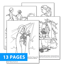 Prayer To St Therese The Little Flower - therese coloring book