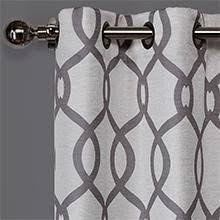 Gray And White Blackout Curtains Exclusive Home Curtains Ironwork Sateen Woven Blackout