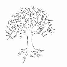 tree with branches coloring page coloring pages for kids and for