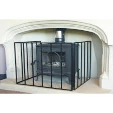 24 u0027 u0027 heavy stove guard fire screen the noble collection black