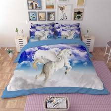 unicorn horses animal 3d printed bedding sets quilt duvet covers