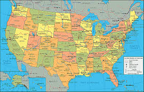 map of america showing states and cities us atlas map with cities usa500337 thempfa org