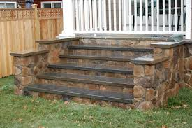 landscape contractors of annapolis stone front stairs
