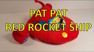 einsteins pat pat red rocket ship plush