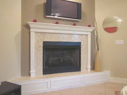 fireplace cool decorating fireplace mantel with tv above room