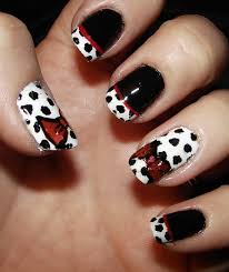 black white monochrome nail art design for beginners diy easy 40