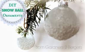 from gardners 2 bergers diy snow ornaments