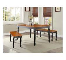 Better Homes And Gardens Dining Table Farmhouse Dining Table Set Room Bench Style Black Oak Wood Kitchen