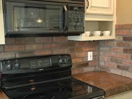 marvelous faux brick backsplash model for your decorating home
