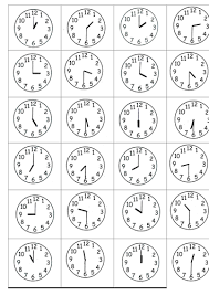 time to the half hour by s0402433 teaching resources tes