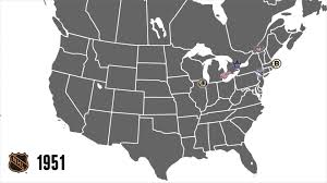 Nhl Map Nhl Through The Years Youtube