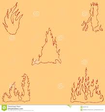 fire sketch by hand pencil drawing by hand vector image the