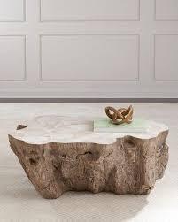 tree stump coffee table natural trunk metal coffee table