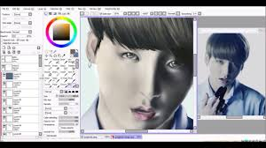 bts jungkook wings tour trailer digital painting paint tool sai